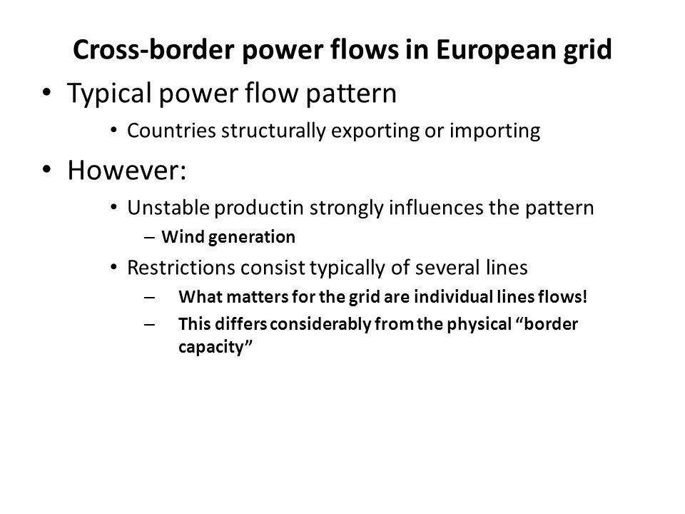Cross-border power flows in European grid
