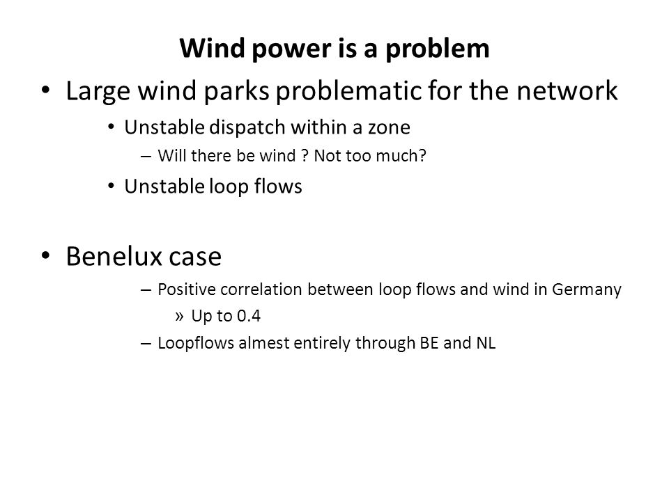 Large wind parks problematic for the network