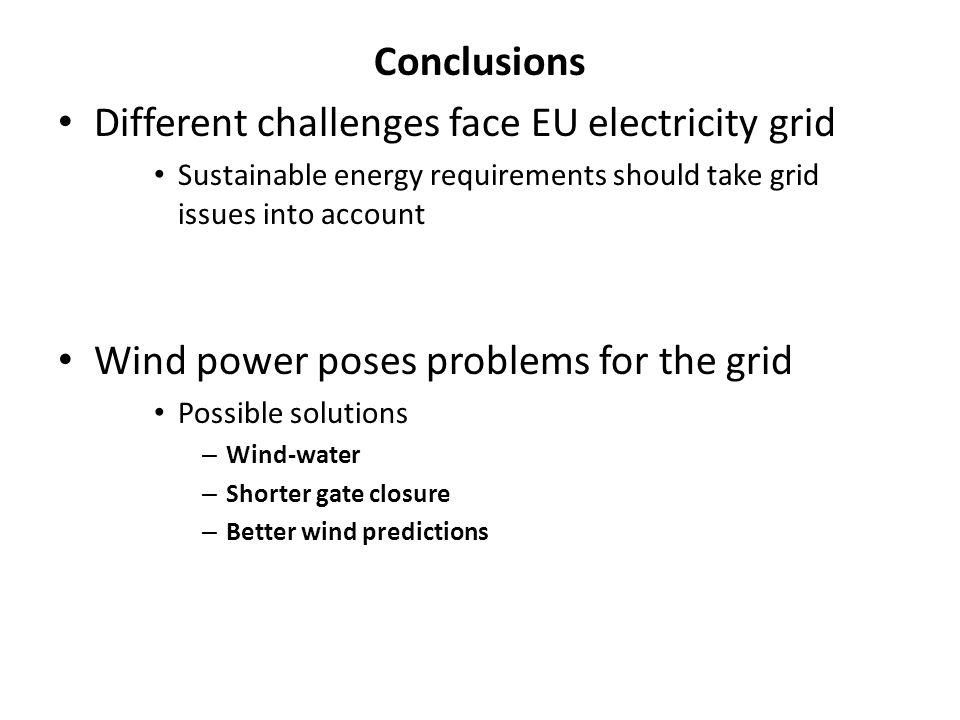 Different challenges face EU electricity grid