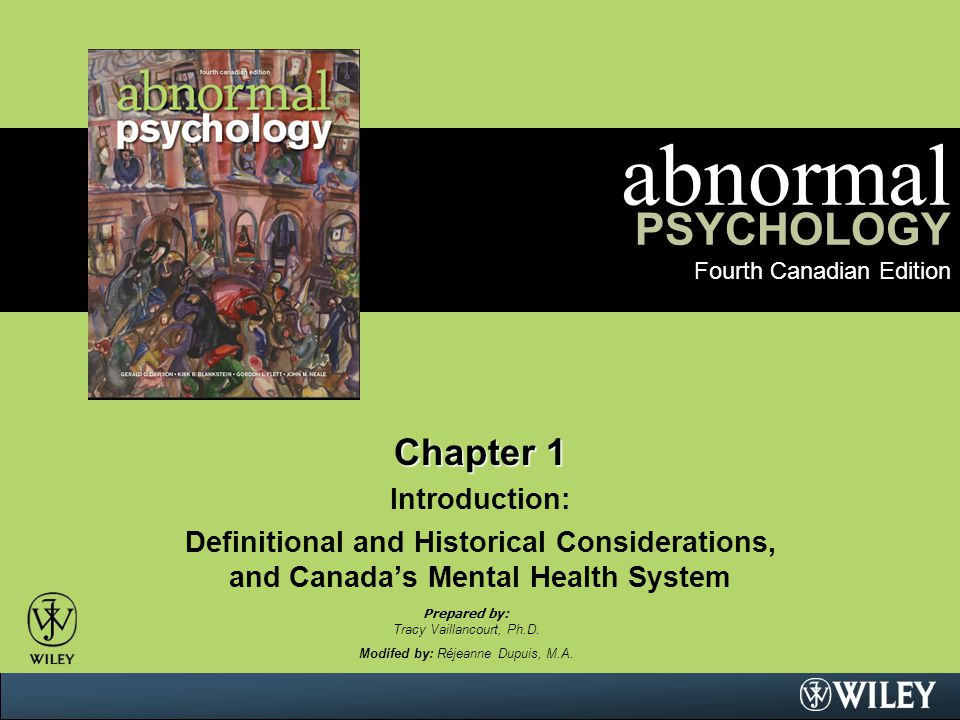 abnormal PSYCHOLOGY Fourth Canadian Edition