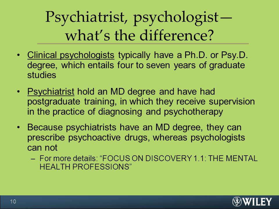Psychiatrist, psychologist— what's the difference