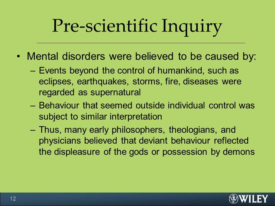 Pre-scientific Inquiry