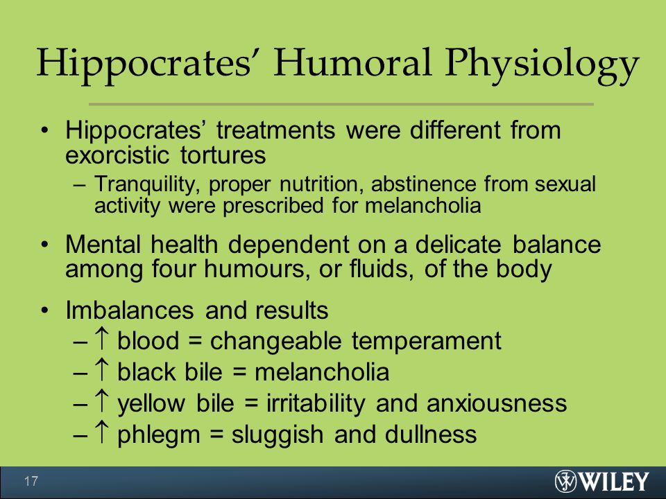 Hippocrates' Humoral Physiology