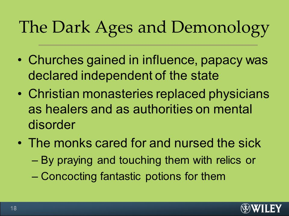 The Dark Ages and Demonology