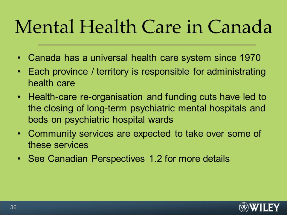 Mental Health Care in Canada