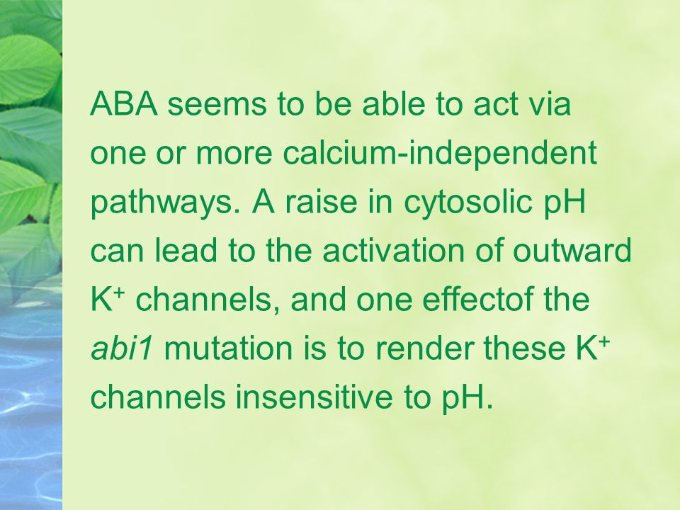 ABA seems to be able to act via