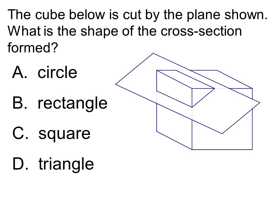 A. circle B. rectangle C. square D. triangle