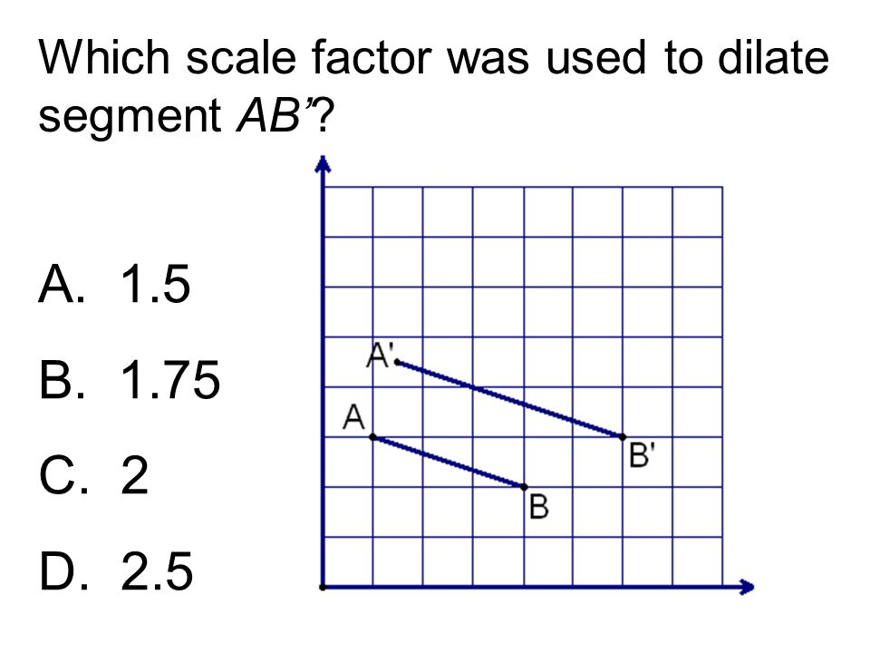 Which scale factor was used to dilate segment AB'