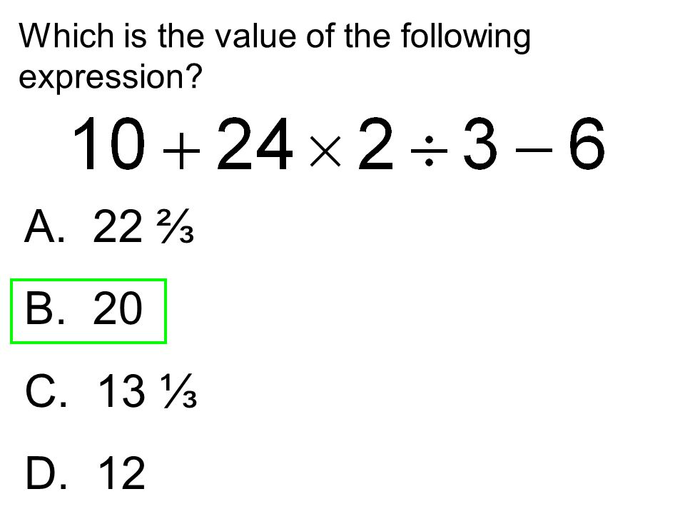 Which is the value of the following expression
