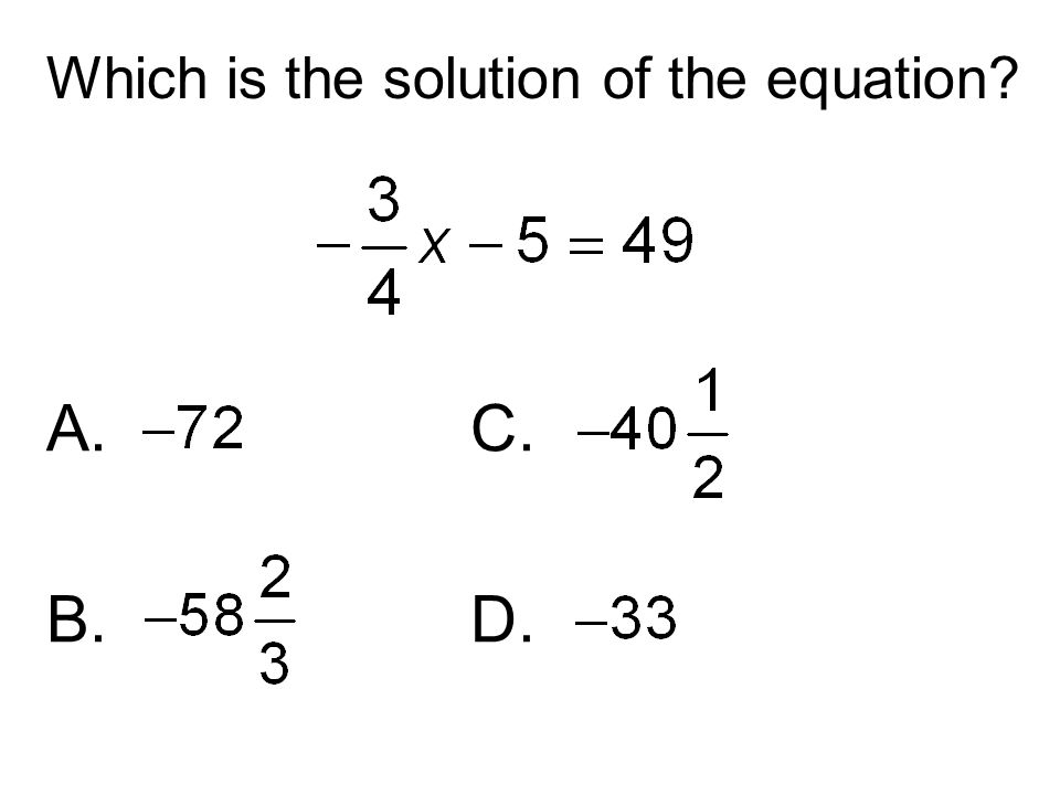Which is the solution of the equation