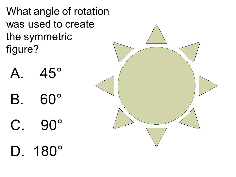 What angle of rotation was used to create the symmetric figure