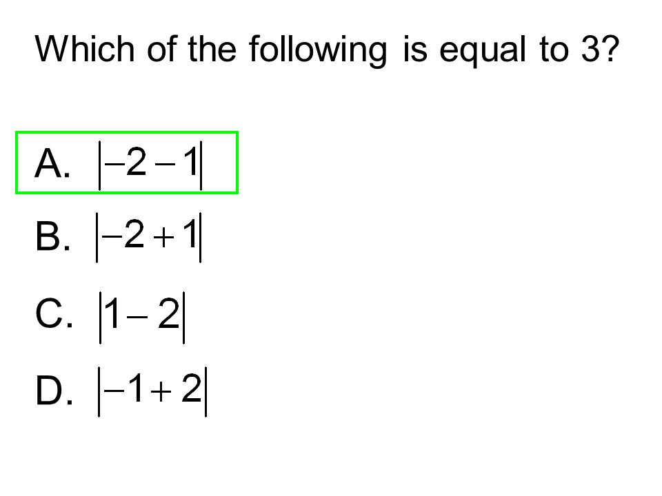Which of the following is equal to 3