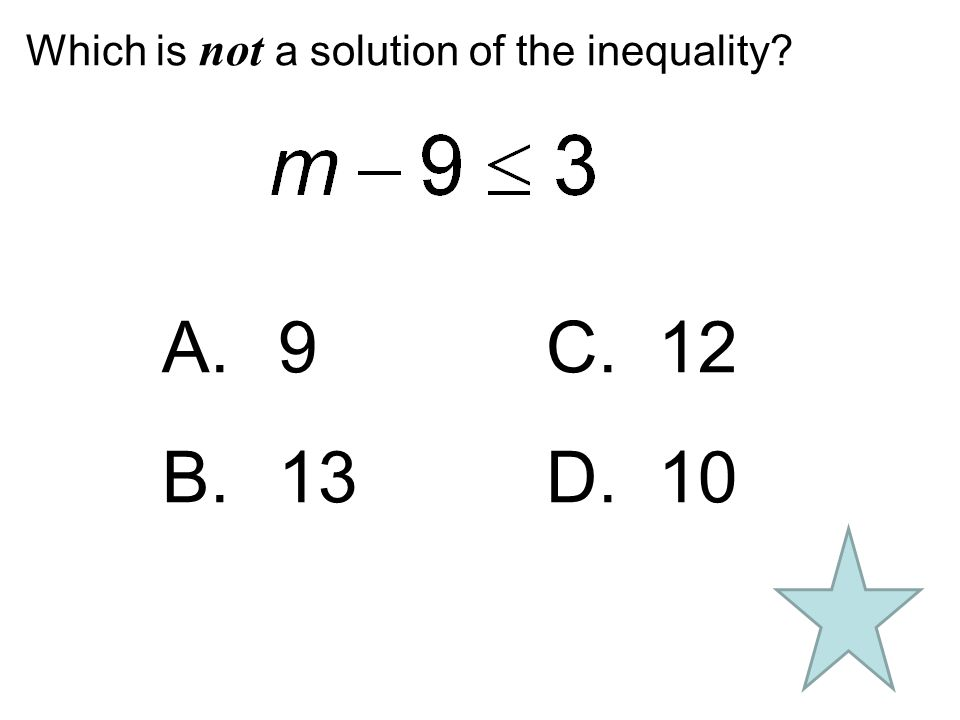 Which is not a solution of the inequality