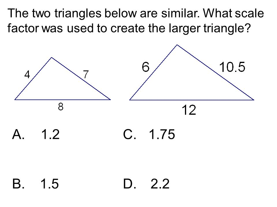 The two triangles below are similar