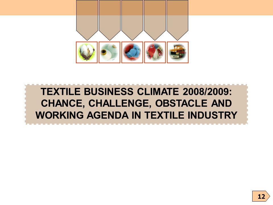TEXTILE BUSINESS CLIMATE 2008/2009: