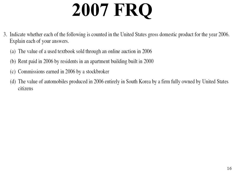 2007 FRQ