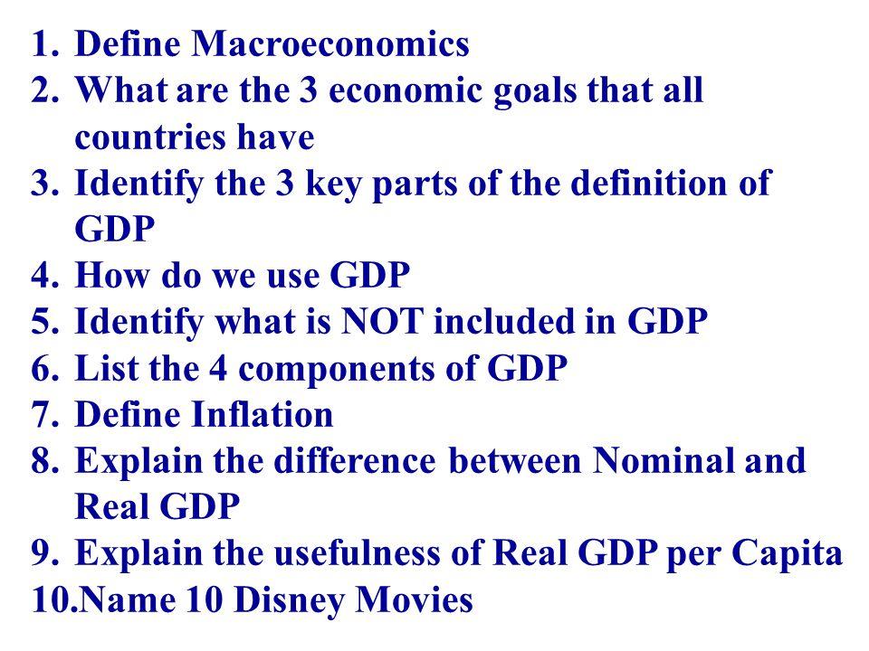 Define Macroeconomics