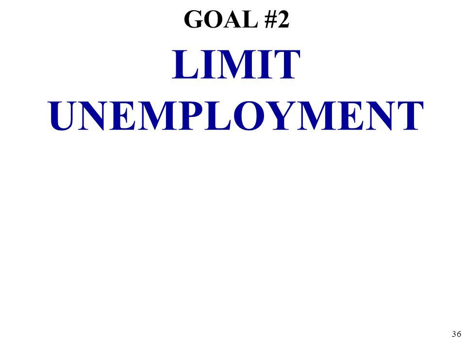 GOAL #2 LIMIT UNEMPLOYMENT 36