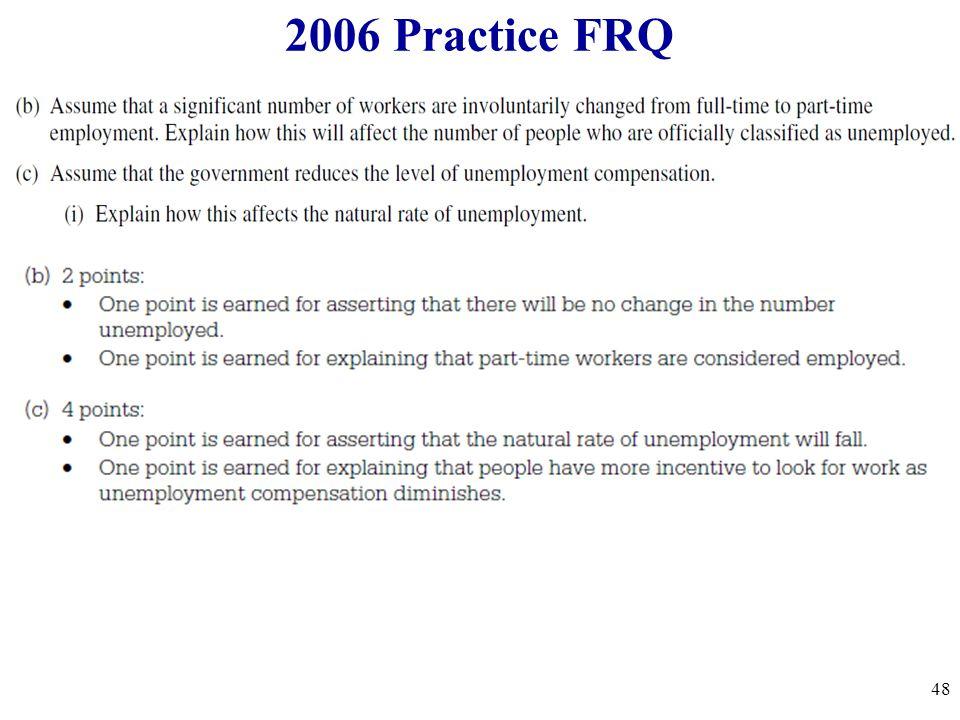 2006 Practice FRQ 48