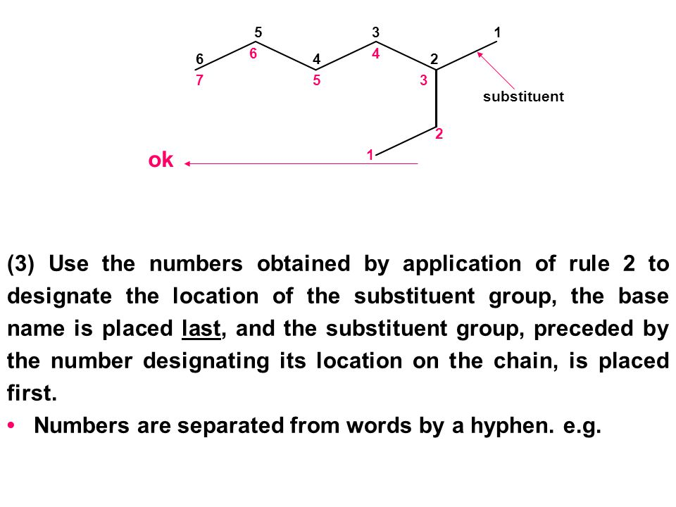 • Numbers are separated from words by a hyphen. e.g.