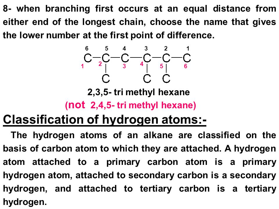 (not 2,4,5- tri methyl hexane)