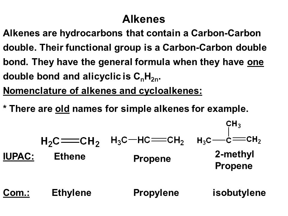 Alkenes