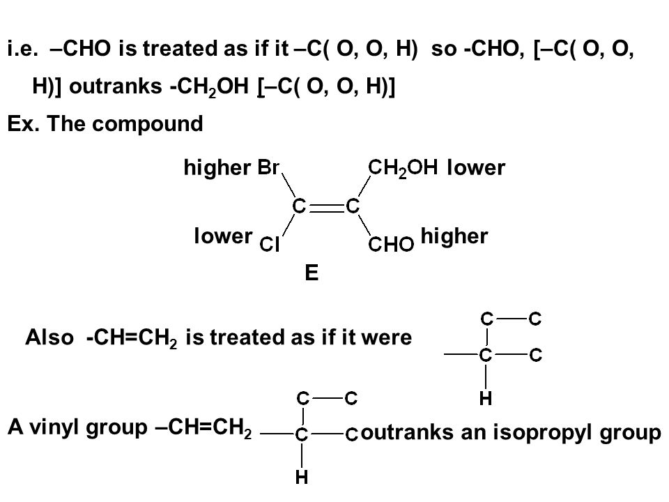 outranks an isopropyl group