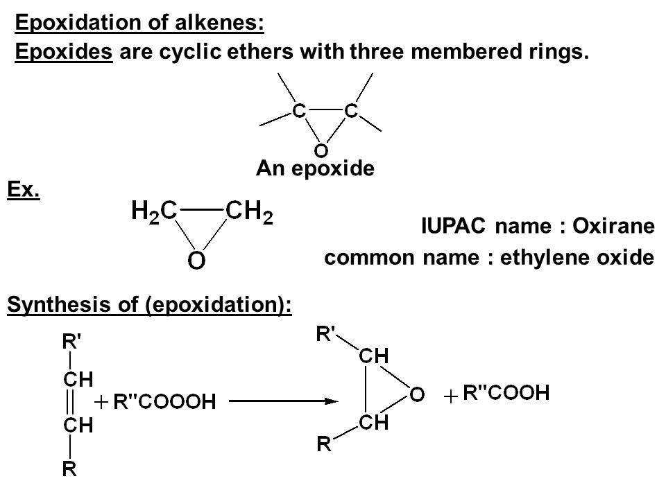 Epoxidation of alkenes: