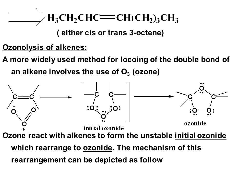 ( either cis or trans 3-octene)