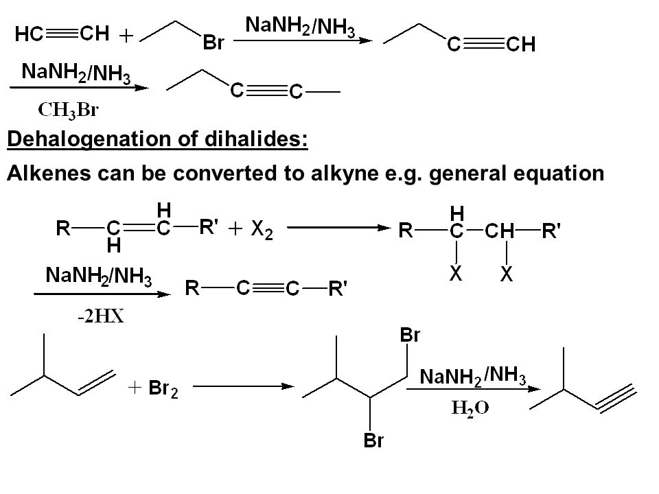 Dehalogenation of dihalides: