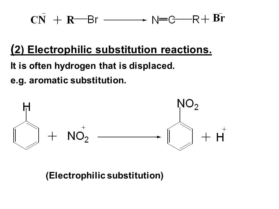 electrophilic aromatic substitution 2 essay 1 electrophilic aromatic substitution electrophilic aromatic substitution: a reaction in which the hydrogen atom of an aromatic ring is replaced as a result of an electrophilic attack on the aromatic ring.