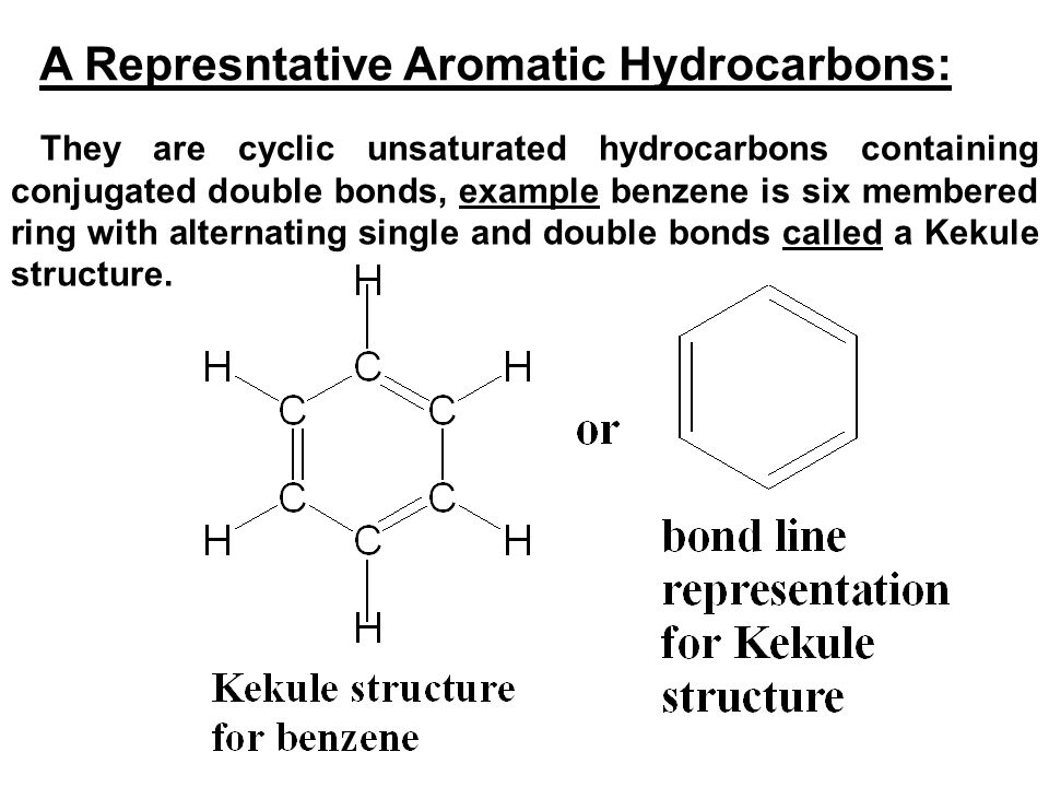 A Represntative Aromatic Hydrocarbons: