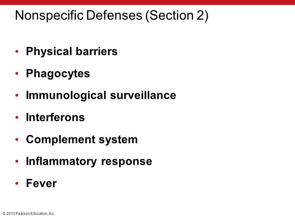 Nonspecific Defenses (Section 2)