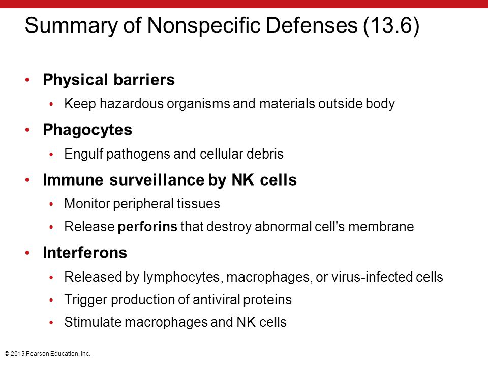 Summary of Nonspecific Defenses (13.6)