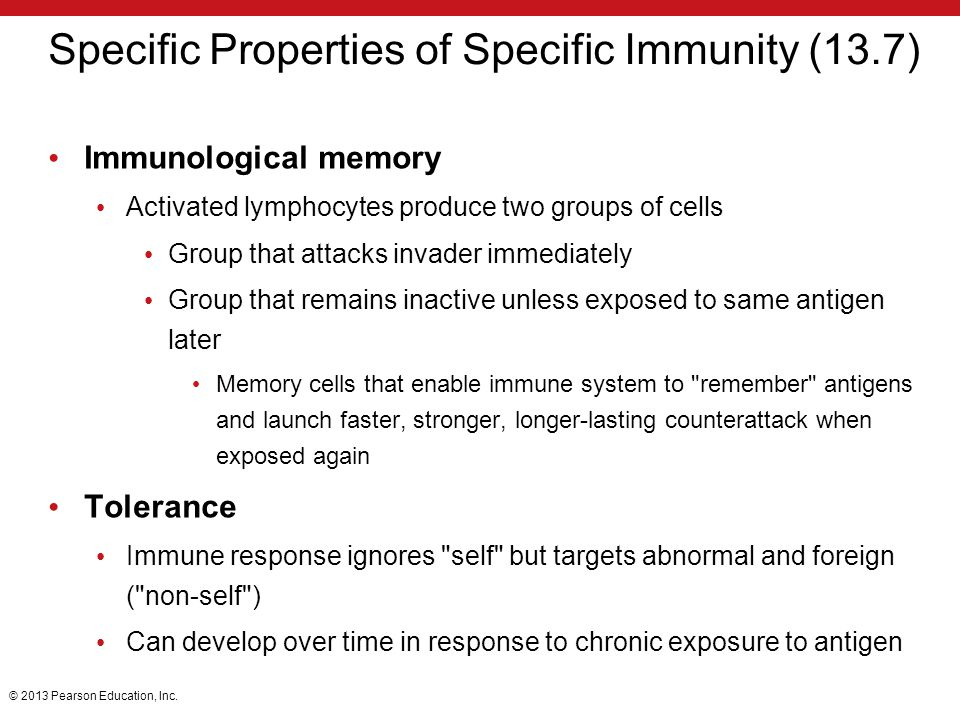 Specific Properties of Specific Immunity (13.7)