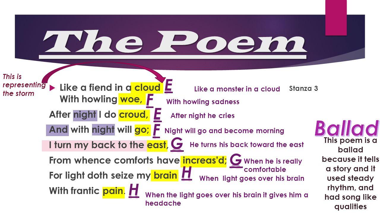 The Poem Ballad E F E F G G H H