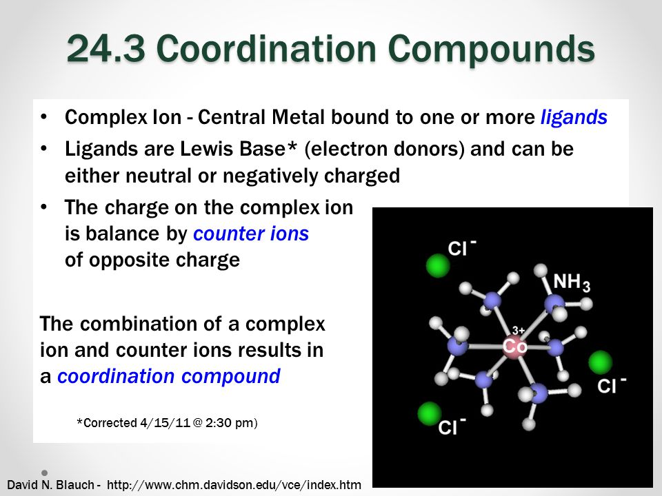 24.3 Coordination Compounds