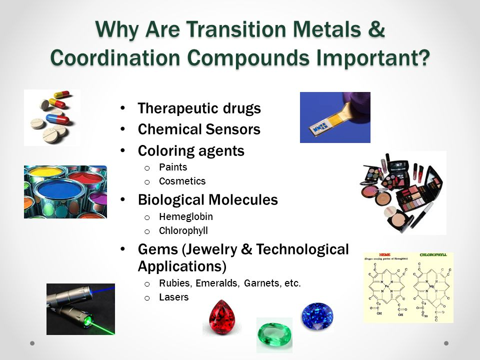 Why Are Transition Metals & Coordination Compounds Important