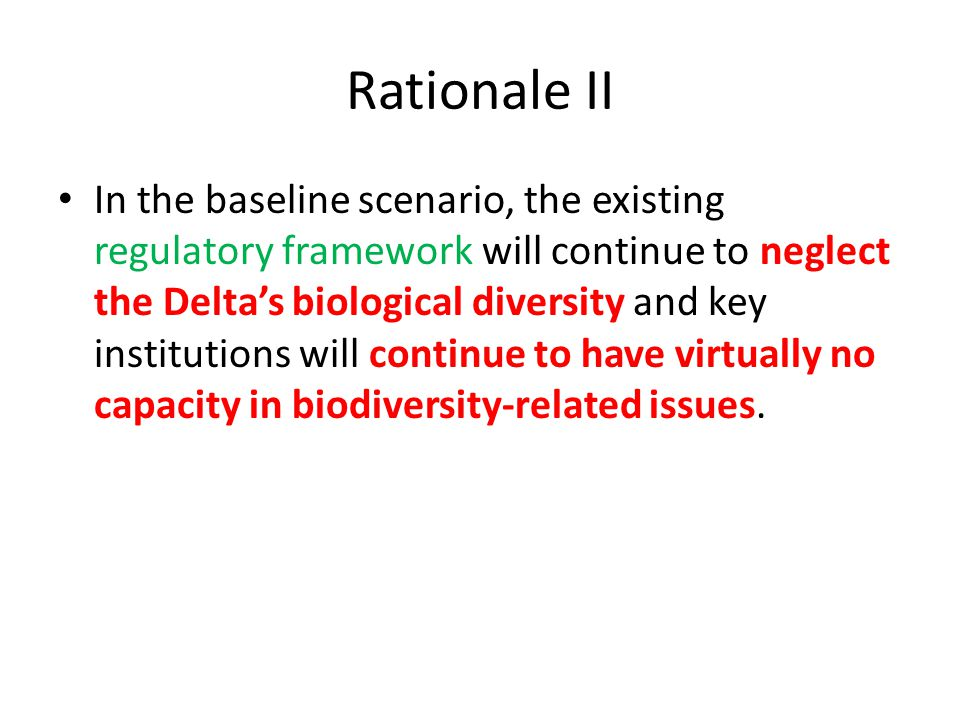 Rationale II