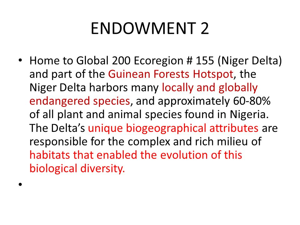 ENDOWMENT 2