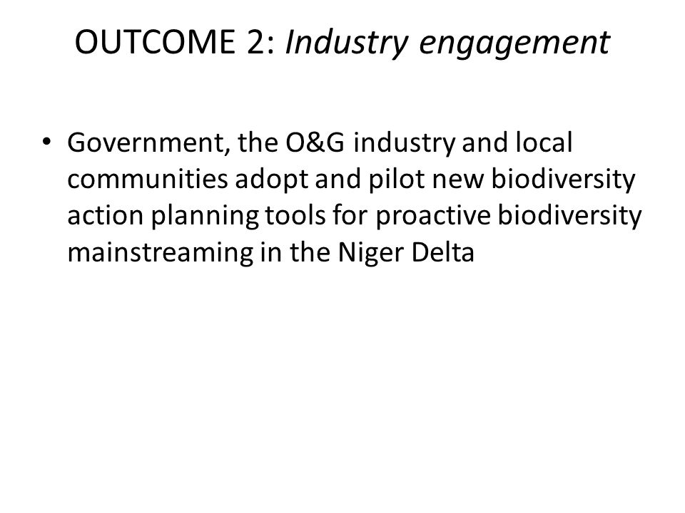 OUTCOME 2: Industry engagement