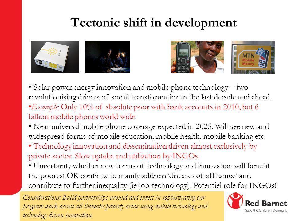 Tectonic shift in development