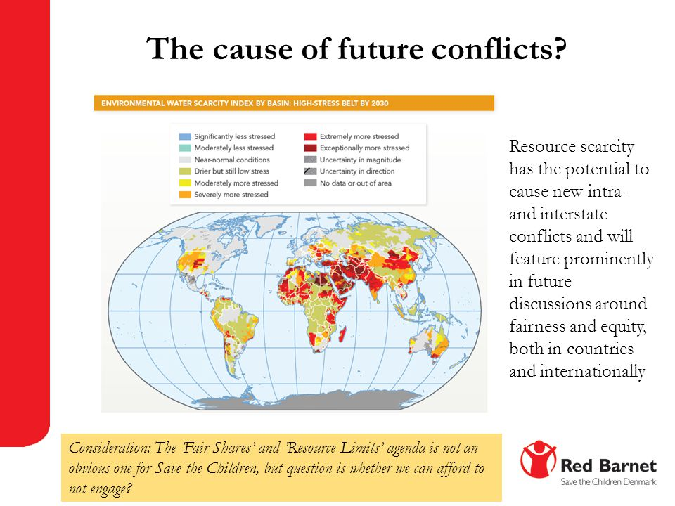 The cause of future conflicts