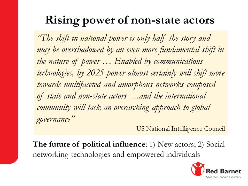 Rising power of non-state actors