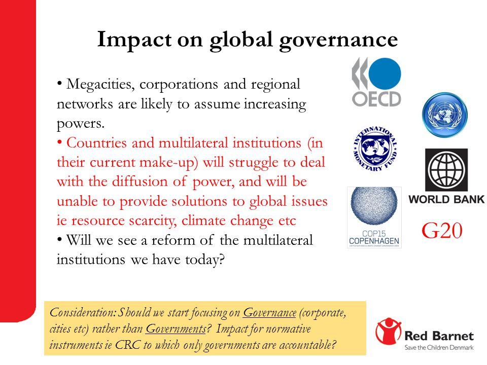 Impact on global governance