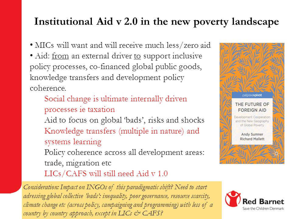 Institutional Aid v 2.0 in the new poverty landscape
