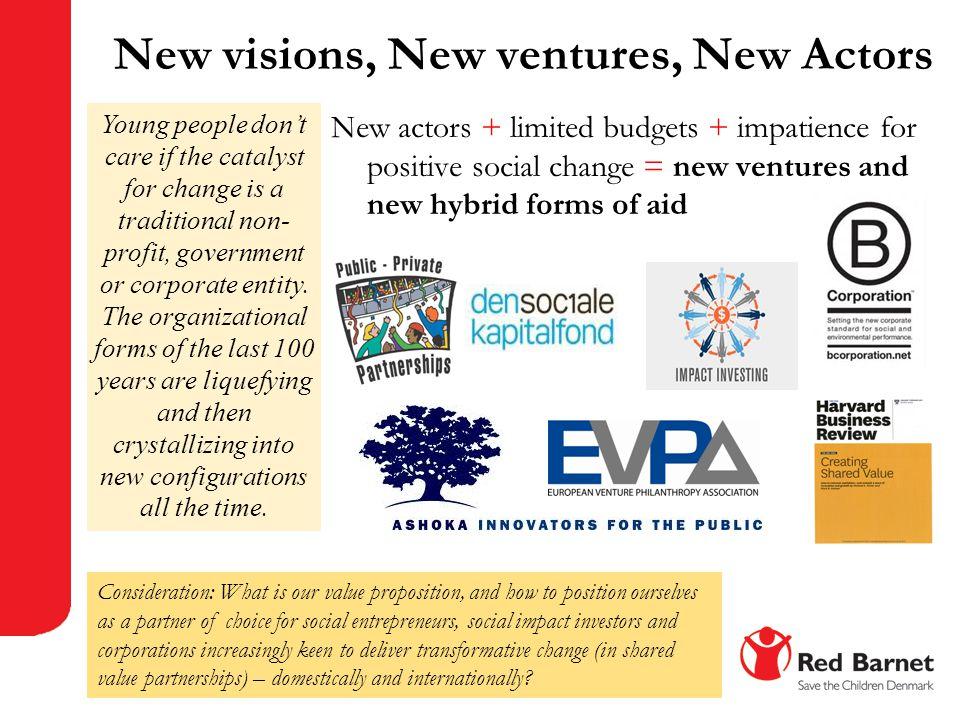 New visions, New ventures, New Actors
