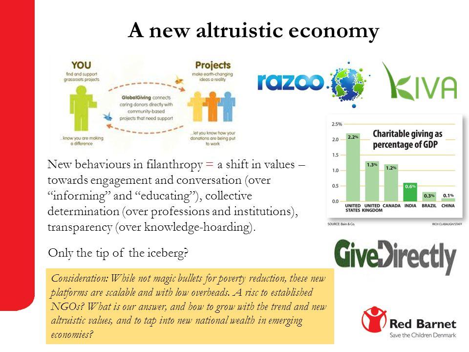 A new altruistic economy