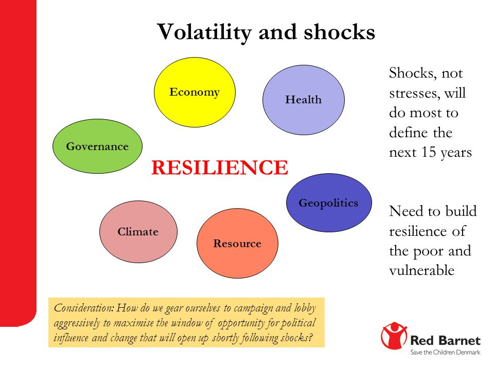 Volatility and shocks RESILIENCE