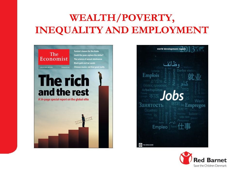WEALTH/POVERTY, INEQUALITY AND EMPLOYMENT